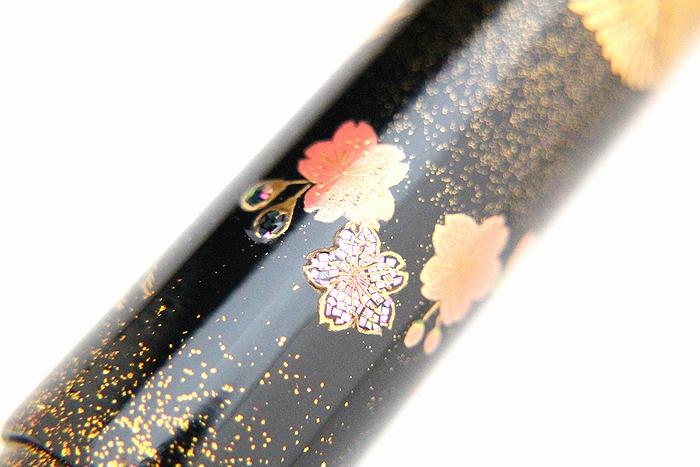 AGJ Maki-e Fountain Pen Double Cranes with Mt. Fuji07