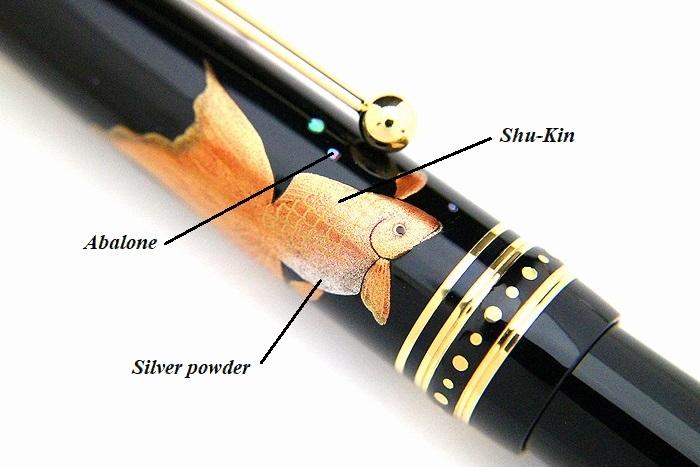 AGJ Maki-e Fountain Pen Goldfish04