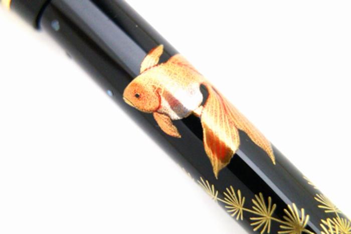 AGJ Maki-e Fountain Pen Goldfish06