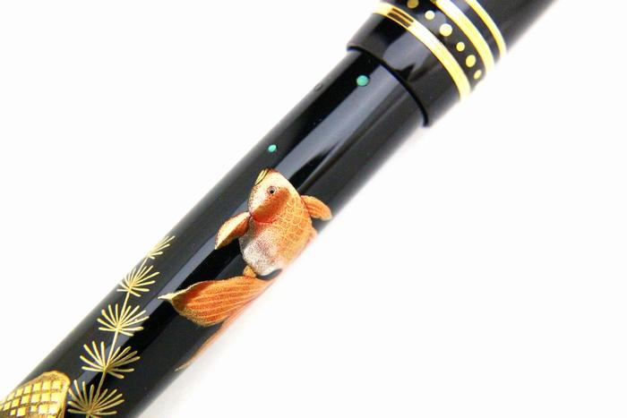 AGJ Maki-e Fountain Pen Goldfish07