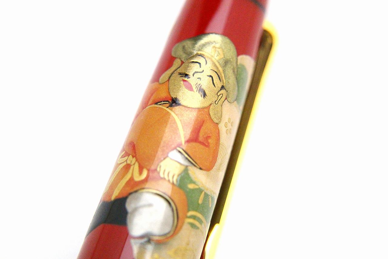 "Photo1: AGJ Original Maki-e Fountain pen #67 ""Daikokuten (God of Wealth)"" Sailor KOP Togidashi Taka Maki-e Kyoto Japan Wa (1)"