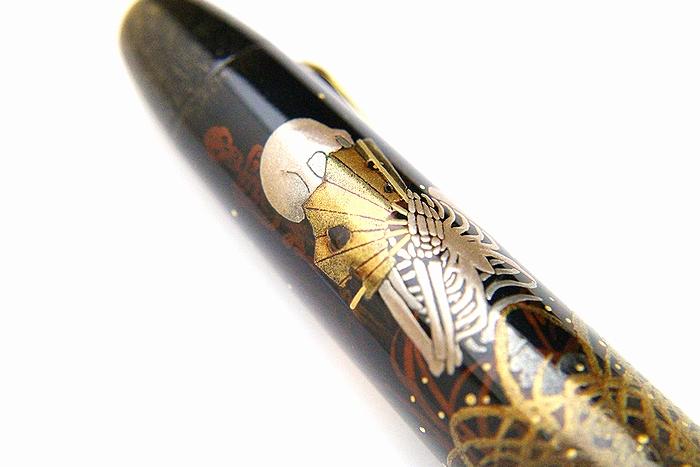 AGJ Maki-e Fountain Pen Skeleton BIWA Minstrel04