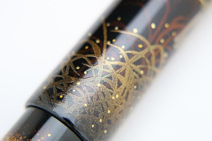 AGJ Maki-e Fountain Pen Skeleton BIWA Minstrel09