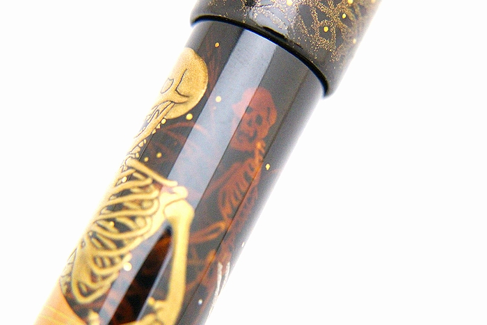AGJ Maki-e Fountain Pen Skeleton BIWA Minstrel14