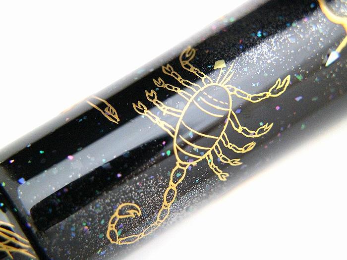 AGJ Maki-e Fountain Pen 12 Ecliptical Constellations08
