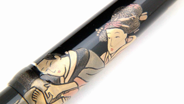 AGJ Maki-e Fountain Pen Ukiyo-e Shuga04