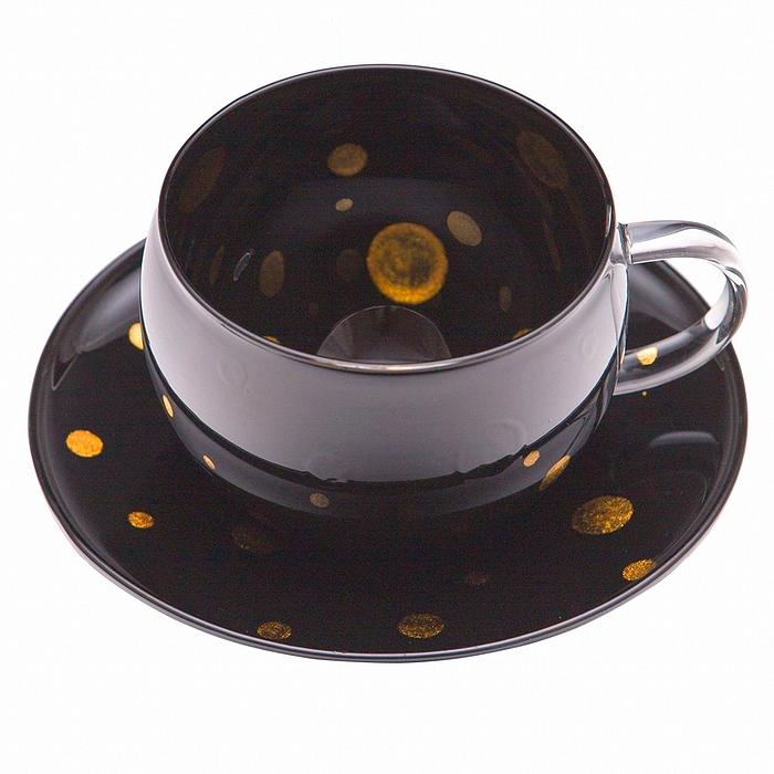 AGJ Glass urushi Cup Saucer1