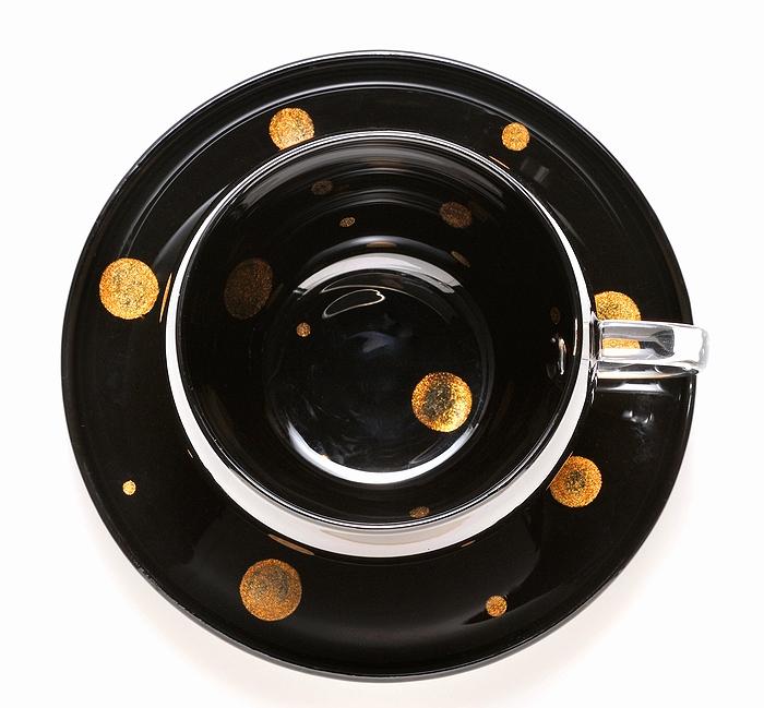 AGJ Glass urushi Cup Saucer2