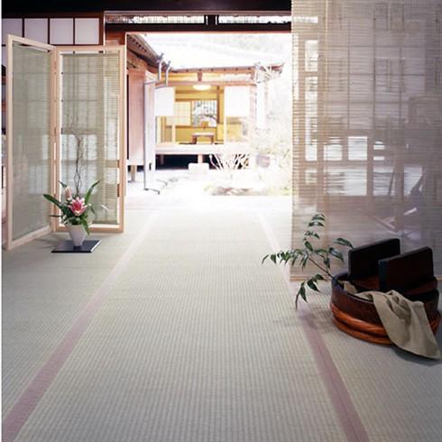 "Photo1: Japanese floor carpet(Itohiki-Weaving) ""Plain Goza"" (1)"