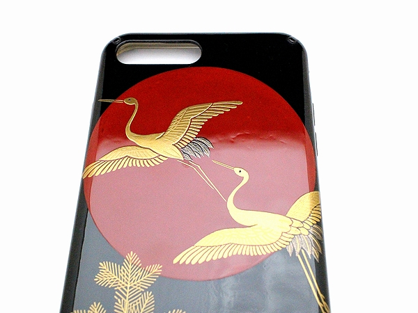 AGJ Maki-e iPhone Case Crane and the sun03