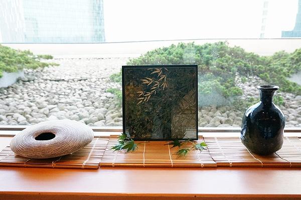 AGJ Kimono-Glass Dish bamboo07