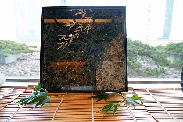 AGJ Kimono-Glass Dish bamboo08