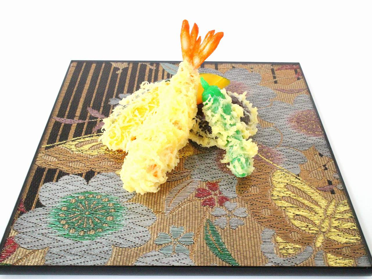 "Photo1: AGJ Original Kimono-Glass Dish / Plate ""Butterfly"" Nishijin Yuzen Kyoto (1)"