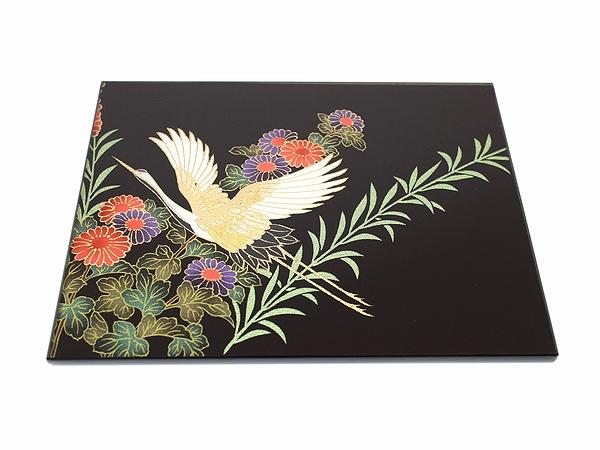 AGJ Kimono-Glass Dish crane01