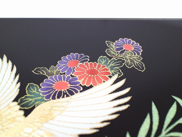 AGJ Kimono-Glass Dish crane03