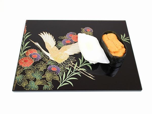 AGJ Kimono-Glass Dish crane04