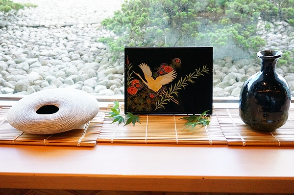 AGJ Kimono-Glass Dish crane05